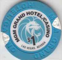 USA - MGM Grand Casino, Chip $1 - Casino