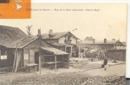 LENS Apres La Guerre - Rue De La Gare Renaissante ( Provient D´un Carnet ), Bon état ( Voir Scan )buvette De La Gare - Lens