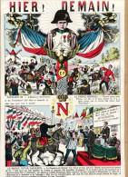 Illustration évènement De 1870 : HIER! DEMAIN! NAPOLEON III - LE PRINCE IMPERIAL - LE PRINCE VICTOR NAPOLEON - Non Classés