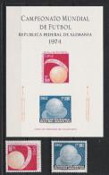 1974 Chile 804-05 ** MNH + Gedenkblatt O.G. Fußball Football Soccer Sport WM - Fußball-Weltmeisterschaft