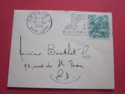 Marcophilie Lettre Mignonnette De Genève Le 31/12/1938 Flamme Exposition Nationale Pour  En Ville Intra-muros - Cartas