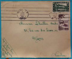 Enveloppe 1942 Rabat Pour Avignon, Affr. 1 F 50 Pour La Surtaxe Aerienne, OMEC PP - Marokko (1891-1956)