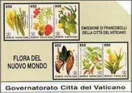VATICANO: FLORA DEL NUOVO MONDO - NUOVA ( MINT ) - Vatican