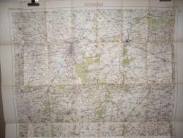 BELGIUM   BRUSSELS ALOST SOIGNIES  GEMBLOUX  LOUVAINS  CARTE TOPOGRAPHIQUE 1916 - Cartes Géographiques