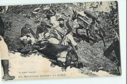 Chasseurs Alpins - Manoeuvres Alpines : Un Accident -  Ane Renversé - Edition Baffert - 2 Scans - Régiments