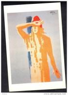 CP Affiche De Paul Colin Symbolisant La Patrie Ruinée Et Martyrisée,17aout 1944. (227) - Histoire