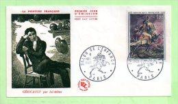 1° Jour, N° Yvert 1365  GERICAULT, Paris - 1960-1969