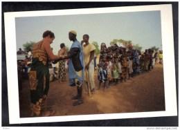 CP Campagne De Vaccination Dans Le Sahel,en Afrique. (252) - Croix-Rouge
