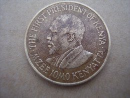 KENYA 1971 TEN CENTS   KENYATTA Nickel-Brass  USED COIN In FAIR CONDITION. - Kenya