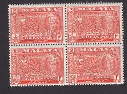 Kelantan, Scott #73, Mint Never Hinged, Sultan And Pineapples, Issued 1957 - Kelantan