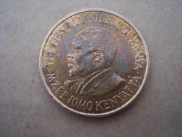 KENYA 1971 FIVE CENTS   KENYATTA Nickel-Brass  USED COIN In FAIR CONDITION. - Kenya