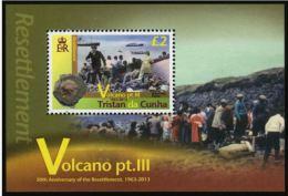 Tristan Da Cunha 2013 - Volcans Part 3, Bateaux, 50e Ann évacuation - BF Neufs // Mnh - Tristan Da Cunha