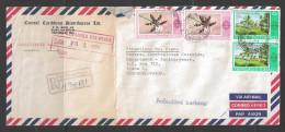 1986 Registered Letter (21 JA 86) St. Vincent Street PO To Praha Czechoslovakia, Flowers - Trinidad & Tobago (1962-...)