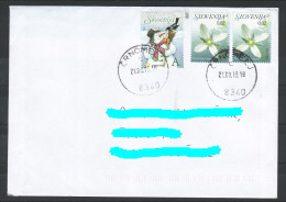 D07 Slowenien Slovenia  Letter Lettre Brief Herman Neujahr New Year Snowman Flowers - Slowenien