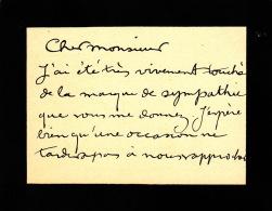 ROCHEGROSSE (G), Peintre Célèbre (Versailles 1859-1938). -  Carte Autographe Signée (11 X 9 Cm). - Autographs