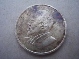 KENYA 1966 FIVE CENTS   KENYATTA Nickel-Brass  USED COIN In GOOD CONDITION. - Kenya