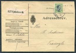 1919 Denmark Copenhagen Adressebrev - Faarevejle - Covers & Documents