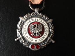 Medal Orden Poland Sily Zbrojne W Sluzbie Ojczyzny * X - Jetons En Medailles