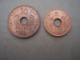BRITISH EAST AFRICA 1964 UNCIRCULATED COINS FIVE & TEN CENTS PAIR. - British Colony