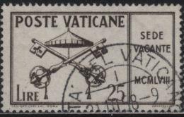 21815 Vaticano 1958 Sede Vacante £ 25 Usato - Usati