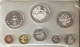 SERIE COMPLETA DE 8 MONEDAS DE BARBADOS DEL AÑO 1973 EN SU ESTUCHE ORIGINAL  (COIN) PLATA-SILVER,ARGENT. - Barbados