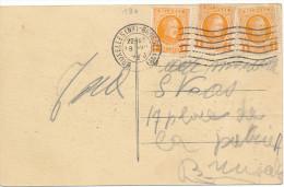1923 Zichtkaart  PZ190(x3) Van Bruxelles(Nd)Brussel(Nd) Naar Brussel Zie Scan(s) - 1922-1927 Houyoux