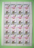 Nicaragua 1999 Flowers Orchids - MINT - Full Sheets Of 16 Stamps Each - Nicaragua
