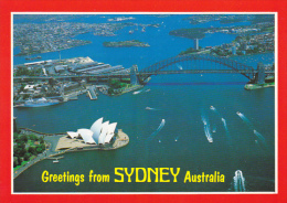 Aerial View Of Harbour Greetings From Sydney Australia - Sydney