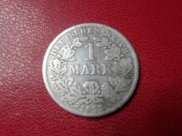 EMPIRE GERMANY : 1  MARK 1873 B - [ 2] 1871-1918: Deutsches Kaiserreich