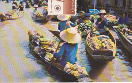Scene Of The Floating Market Dhonburi Thailand
