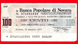 MINIASSEGNI - BANCA POPOLARE DI NOVARA - Usato - BPNO.017 - [10] Assegni E Miniassegni