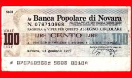 MINIASSEGNI - BANCA POPOLARE DI NOVARA - Usato - BPNO.030 - [10] Cheques Y Mini-cheques