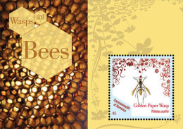 DOMINICA,2013,INSECTS,BEES, WASPS, SHEETLET+ S.SHEET,MNH - Abeilles