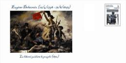 Spain 2014 - Odalisques - Eugène Delacroix (French Romantic Painter, 1798-1863) - Special Cover - Desnudos