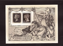 GREAT BRITAIN  1990  Penny Black 150° Anniversary Michel Cat  N°   Block  6   Absolutely MNH ** - 1952-.... (Elizabeth II)