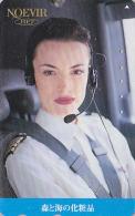 Télécarte Japon / 110-016 - Cosmétiques NOEVIR / Femme Pilote - Japan Cosmetics Cosmetic Phonecard Parfum Avion Girl 143 - Parfum