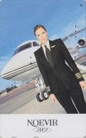 Télécarte Japon / 110-016 - Cosmétiques NOEVIR / Femme Pilote - Japan Cosmetics Cosmetic Phonecard Parfum Avion Girl 144 - Perfume