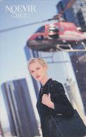 Télécarte Japon - Cosmétiques NOEVIR / Femme & HELICOPTERE - Japan Cosmetics Cosmetic Phonecard Parfum Avion Girl - 145 - Parfum
