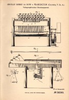 Original Patentschrift - Dibble La Dow In Washington , 1889 , Transmission Apparatus For Telegraphy , Telegraphie !!! - Historische Dokumente
