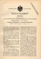Original Patentschrift - Karl Ballin In Dux / Duchcov , Böhmen , 1890 , Entwässerung Von Gebirgsschichten , Bergbau !!! - Historische Dokumente