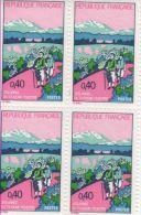 1972 - Année Du Tourisme Pédestre   -   Bloc De 4 Timbres N° 1723 - France