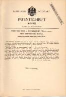Original Patentschrift - Friedrich Beck In Winterlingen , Württemberg , 1891 , Zahnrad Für Spielzeug , Radkranz !!! - Historische Dokumente