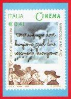 [MD0144] RIPRODUZIONE FRANCOBOLLO CENTENARIO DEL CINEMA - CON ANNULLO GIORNO DI EMISSIONE 10.5.2002 - Cinema