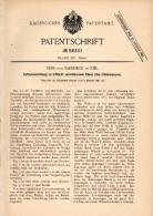 Original Patentschrift - Nees Von Esenbeck In Kiel , 1891 , See - Chronometer , Aufziehvorrichtung , Uhr !!! - Technik & Instrumente