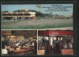 CPA Verlaine, Autoroute E41, Station BR 338/339 - Verlaine