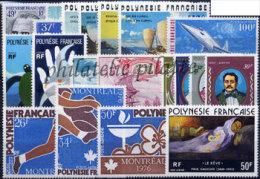 -Polynésie Année Complète 1976 - Années Complètes