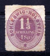 SCHLESWIG-HOLSTEIN 1865 Rouletted - Mi.10 (Yv.5, Sc.5) MNG (no Gum) VF - Schleswig-Holstein
