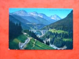Cpa CHUR - AROSA - BAHN - Viadukt Bei Langwies -- Viaduc -  Canton Grisons   -  Suisse - GR Grisons