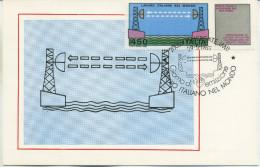 ITALIA - FDC MAXIMUM CARD 1982 - LAVORO ITALIANO - PONTE RADIO - ANNULLO SPECIALE - Maximumkarten (MC)