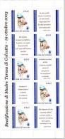 [B] Sheet Feuillet ** Vatican Vaticano Mère Thérésa Mother Teresa + Label Vignette - Mutter Teresa